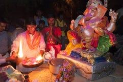 JAISALMER, ИНДИЯ - 8-ое сентября: Торжество лорда Ganesha во время фестиваля Ganesha Chaturthi Стоковое Изображение RF