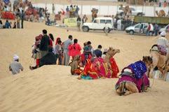 jaisalmer Раджастхан празднества 2009 пустынь стоковая фотография rf