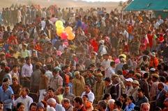 jaisalmer Раджастхан празднества 2009 пустынь стоковое фото