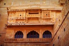 Jaisalmer, Раджастхан, Индия Традиционная индийская архитектура - r Стоковые Изображения RF