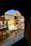Jaisalmer从一个老房子的街道视图 拉贾斯坦 印度 免版税库存照片