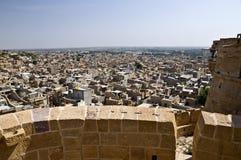 Jaisalmer. View over the ancient city of Jaisalmer, India royalty free stock image