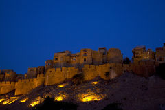 Jaisalmer au Ràjasthàn, Inde en soirée. image libre de droits