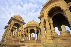 Jaisalmer cenotaphs Stock Photo