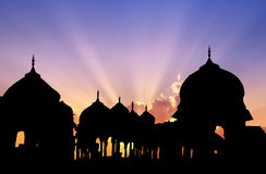 Jaisalmer cenotaphs sunset Stock Photos