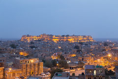 Jaisalmer city in Rajasthan state, India royalty free stock photos