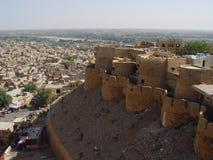 Jaisalmer de pedra amarelo Fotos de Stock Royalty Free