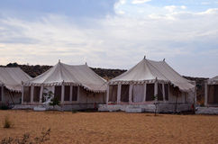 Jaisalmer Desert Camp. I have visited this camp in February 2014 and we had very nice experience with this. All is exactly same as they are describing on website Royalty Free Stock Photography