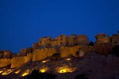 Jaisalmer em Rajasthan, India na noite. Imagem de Stock Royalty Free