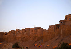 Jaisalmer em Rajasthan, India na noite. Fotos de Stock Royalty Free