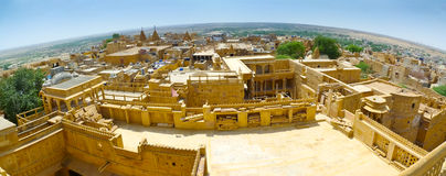 Jaisalmer Fish-eye Panorama Stock Photography