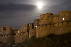 Jaisalmer Fort. At night in Rajasthan, India royalty free stock image
