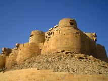 Jaisalmer Fort. View of the outside wall of the fort in Jaisalmer, Rajasthan, India royalty free stock photo