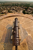Jaisalmer fort cannon Stock Image