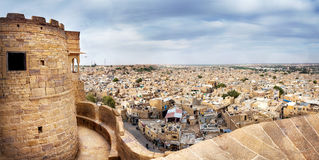 Jaisalmer fort and city view Royalty Free Stock Images