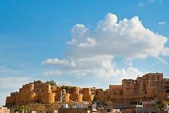 Jaisalmer fort, den guld- staden av Rajasthan, Jaisalmer, Indien Royaltyfri Fotografi
