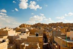 Jaisalmer fort, den guld- staden av Rajasthan, Jaisalmer, Indien Royaltyfri Foto