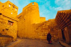 Jaisalmer Fort, historic architecture in India Royalty Free Stock Photography