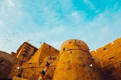 Jaisalmer Fort, historic architecture in India Royalty Free Stock Photos