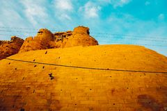 Jaisalmer Fort, historic architecture in India Stock Photo