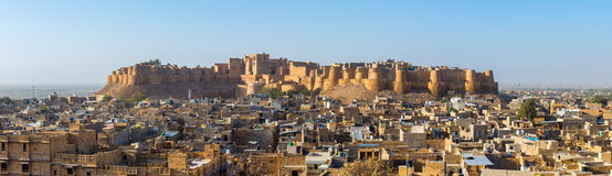 Jaisalmer fort i Rajasthan Arkivfoton