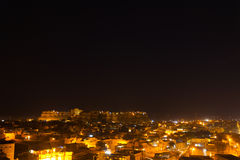 Jaisalmer Fort Night Cityscapee Royalty Free Stock Images