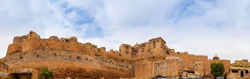 Jaisalmer Fort Panorama, Rajasthan, India. Panoramic view of the Golden Fort of Jaisalmer, also known as Jaisalmer Fort, Rajasthan, India Royalty Free Stock Photo