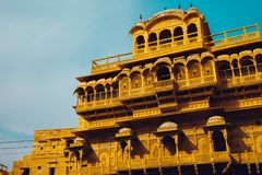 Jaisalmer Fort Raja Ka Mahal, historic architecture in India Royalty Free Stock Photography