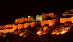 Jaisalmer fort. Rajasthan India at night royalty free stock photo