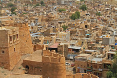 Jaisalmer Fort in Rajasthan, India. A view over Jaisalmer Fort in Rajasthan, India Stock Images