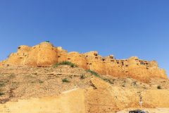 Jaisalmer golden fort india. Huge golden fort and complex perched majestically atop a hill Royalty Free Stock Image
