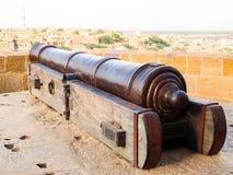 Ancient cannon in Jaisalmer Fort. Jaisalmer, India - Circa March, 2018. Ancient cannon in Jaisalmer Fort stock photos