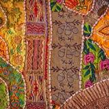Jaisalmer, India. Vintage Handmade Patchwork Tapestry Wall Hangi Stock Photos