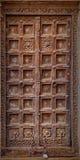 Jaisalmer Indien Gammal krokig trädörr Vanlig ingång till Fotografering för Bildbyråer
