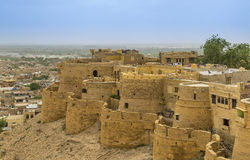 Jaisalmer从Jaisalmer堡垒,拉贾斯坦的市视图 免版税库存图片
