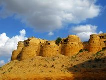 Jaisalmer, the magnificent Golden City, Rajasthan. Jaisalmer, the magnificent Golden City in the heart of Rajasthan (India), surrounded by the desert of Thar Royalty Free Stock Photo