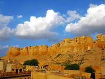 Jaisalmer, the magnificent Golden City, Rajasthan. Jaisalmer, the magnificent Golden City in the heart of Rajasthan (India), surrounded by the desert of Thar Royalty Free Stock Photography