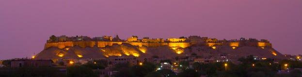 Jaisalmer panorama. A nightime panorama of Jaisalmer in Rajasthan India royalty free stock photography