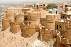 Jaisalmer, Rajastan. Architecture, Jaisalmer Fort, Rajastan, India Royalty Free Stock Image
