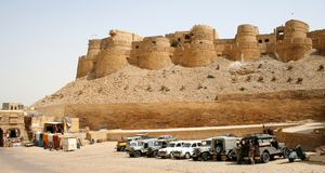 Jaisalmer, Rajastan. Architecture, Jaisalmer Fort, Rajastan, India Royalty Free Stock Images