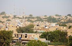 Jaisalmer, Rajasthan, Ινδία Πύργοι πόλεων και κυττάρων Στοκ φωτογραφίες με δικαίωμα ελεύθερης χρήσης