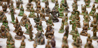 Jaisalmer, Rajasthan, India. Miniature bronze statuettes on mark Royalty Free Stock Photo