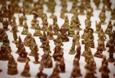 Jaisalmer, Rajasthan, India Miniatuurbronsbeeldjes op teken royalty-vrije stock afbeelding