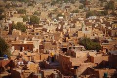 Jaisalmer Rajasthan, Indien Vanlig gata av staden Royaltyfri Bild