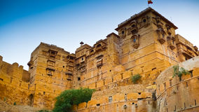 Jaisalmer Ramparts royaltyfri fotografi