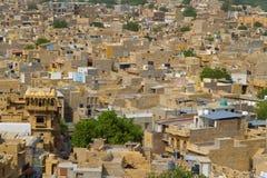 Jaisalmer stad i Rajasthan, Indien Royaltyfri Foto