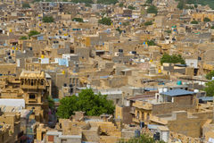 Jaisalmer town in Rajasthan, India. A view over Jaisalmer townin Rajasthan, India royalty free stock photo