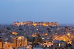 Jaisalmerstad in de staat van Rajasthan, India royalty-vrije stock foto's