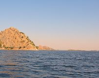 Jaisamand See Dhebar See nahe Udaipur, Rajasthan, Indien Stockbilder