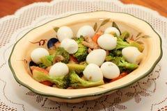 jaj brokułów przepiórka zdjęcia stock